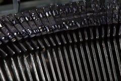 Old typewriter type bars Royalty Free Stock Images
