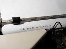 Old Typewriter typing stock image
