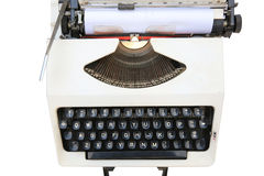 Old typewriter,white Royalty Free Stock Photography