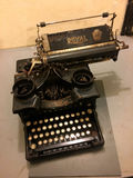 Old typewriter during world war 2, Maginot Line Ouvrage Schoenenbourg Alsace Francein 2016 Stock Images