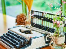 An old typewritter stock photos