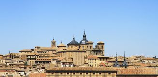 Toledo architectural historical city. Roofs.  Spain. Royalty Free Stock Images