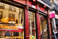 Old typical bakery in the Chueca district of Madrid royalty free stock images