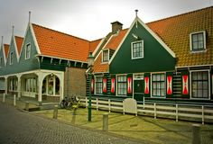 Old typical dutch village Royalty Free Stock Photos