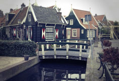 Old typical dutch village Stock Photos