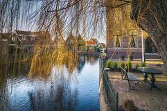 Old typical dutch village Stock Image