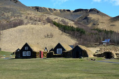Old typical rural Icelandic houses Stock Photos