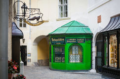 Old typical shops in Vienna Stock Photography