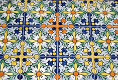 Old typical Spanish tiles Stock Photo