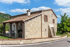 Old typical Tuscan farmhouse. In Italy royalty free stock photography