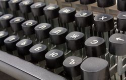 Old typing device Royalty Free Stock Photography