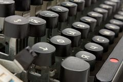 Old typing device Stock Photography