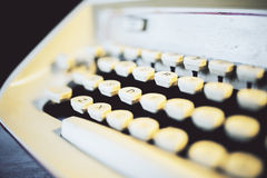 Old typing machine side Royalty Free Stock Photo