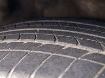 Old tyre. Close-up old tyre is decline Stock Images