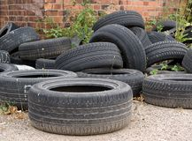 Old tyre covers Royalty Free Stock Images