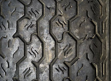 Old tyre tread close-up background Royalty Free Stock Photos