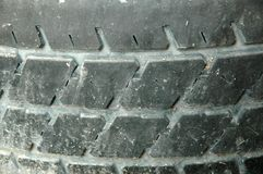 Old Tyre Tread. Close-up of old tyre tread background Royalty Free Stock Photo