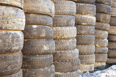Old tyres Stock Photography