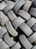Old Tyres Background Royalty Free Stock Photo