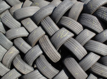 Old Tyres Background Stock Photo