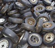 Old Tyres Background Royalty Free Stock Images