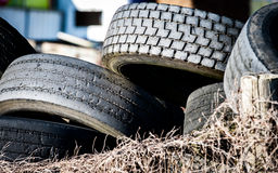Old tyres Stock Image