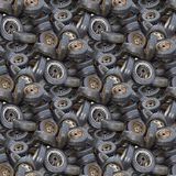 Old Tyres Texture Stock Images