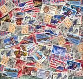 Old U.S. air mail postage stamps Royalty Free Stock Images