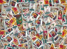 Old U.S. Christmas postage stamps Stock Photo