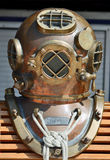 Old U.S. Navy Diving Helmet Stock Photo