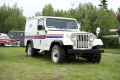 Old U.S Postal truck. Jeep that is no longer in service for delivering mail Stock Photography