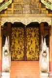 Old Ubosot Lanna Style in Wat Buak Krok Luang , Chiangmai Royalty Free Stock Photo