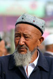 An old Uighur man Stock Photo
