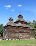 Old Ukrainian church. In Pirogovo, Ukraine Stock Photos