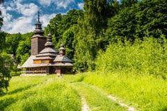 Old Ukrainian church. In Pirogovo, Kiev, Ukraine Royalty Free Stock Image