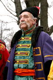 Old ukrainian Cossack 14. Old ukrainian Cossack with long gray whiskers Royalty Free Stock Image