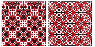 Old ukrainian embroidery texture Royalty Free Stock Images
