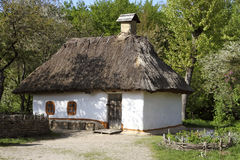Old Ukrainian hut in the village. Pirogovo museum. Royalty Free Stock Image