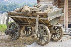 Old ukrainian telega. Image of an old traditional ukrainian telega Royalty Free Stock Image
