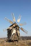 Old Ukrainian wooden mill. Royalty Free Stock Image