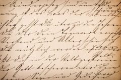 Old undefined abstract handwritten text. Paper texture backgroun Stock Photography