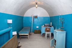 Old underground hospital in military soviet bunker Royalty Free Stock Photo