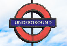 Old underground sign in London Stock Image