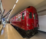 Old underground train carriage Royalty Free Stock Photos