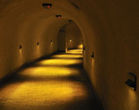 Old underground tunnel. Stock Photos