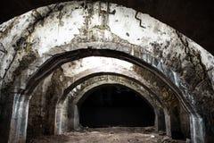 Old underground tunnel Stock Photo