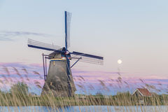Old UNESCO Windmills in Holland, Netherlands Royalty Free Stock Photography