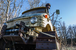 Old unimog with chains detail Stock Photography