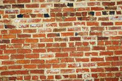 Old unique faded red brick background. Unique brick weathered background with copy space Stock Photo