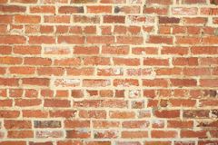 Old unique faded red brick background. Unique brick weathered background with copy space Stock Photography